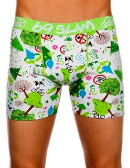 Pánske boxerky FIT Save the Forest White (111)